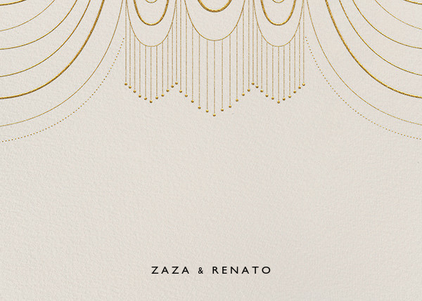 Normandie (Stationery) - Cream/Gold - Paperless Post - Personalized stationery