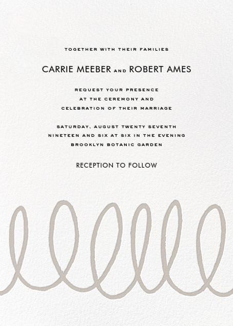 Charlotte Street II (Invitation) - Gray - kate spade new york - All