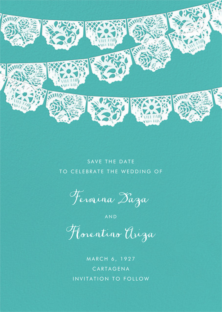 Tulum (Save the Date) - Lagoon/White - Paperless Post - Save the date