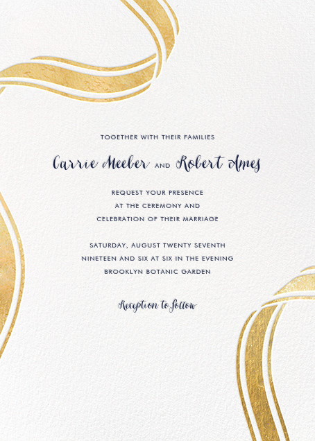Ellis Hall II (Invitation) - Gold - kate spade new york - All
