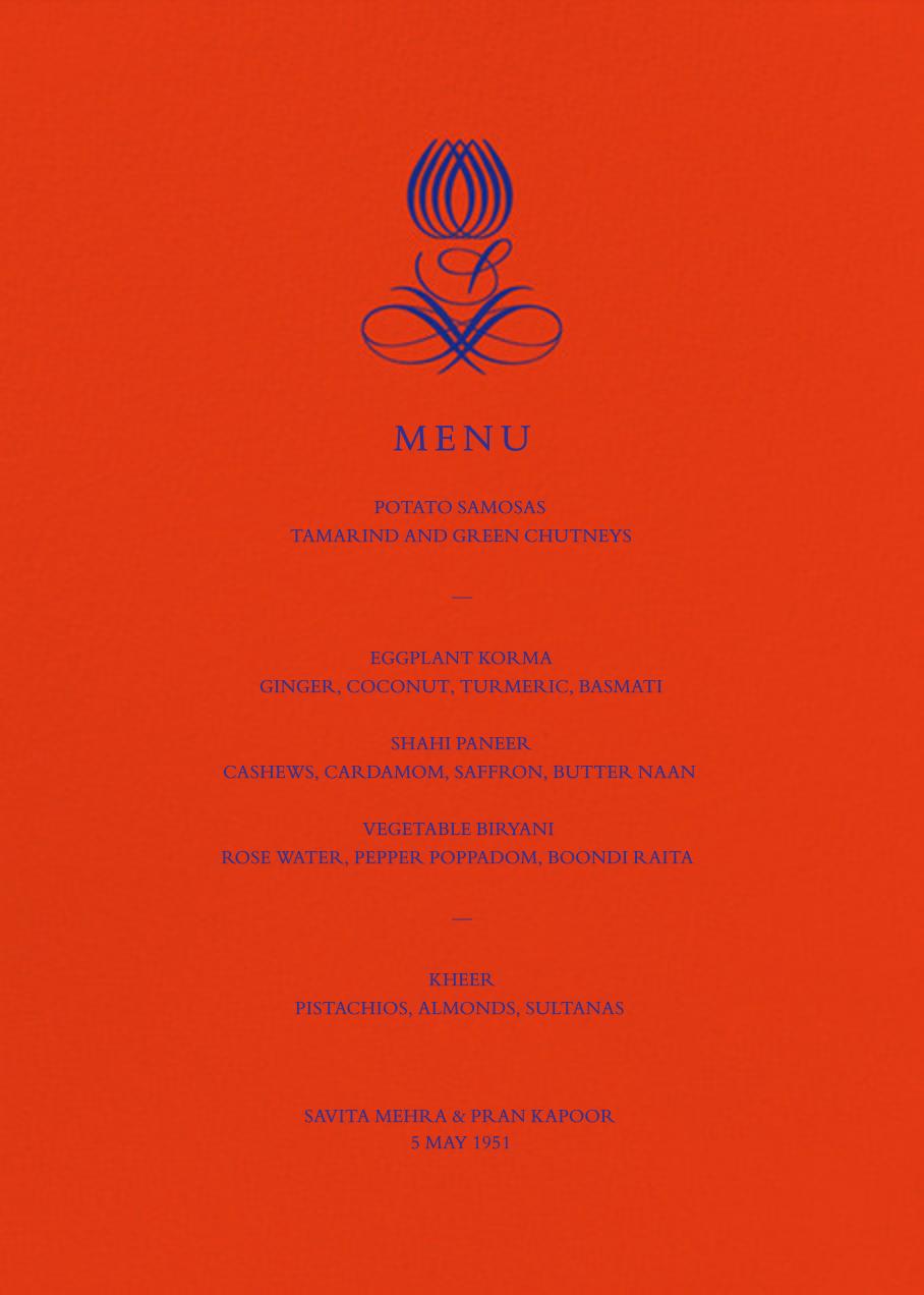 Emblem (Menu) - Flame - Bernard Maisner - Menus
