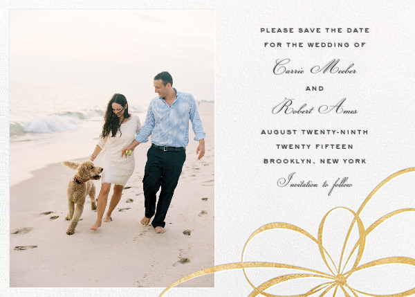Belle Boulevard (Photo Save the Date) - Gold - kate spade new york - Photo