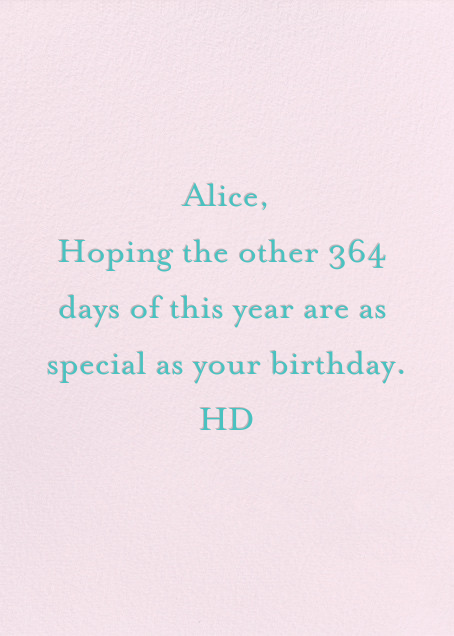 Happiest of Happies - Ashley G - Birthday - card back