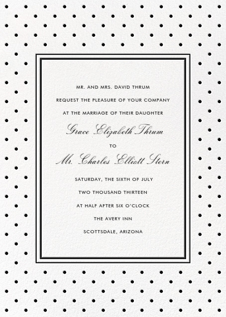 La Pavillion II (Invitation) - Black - kate spade new york - All
