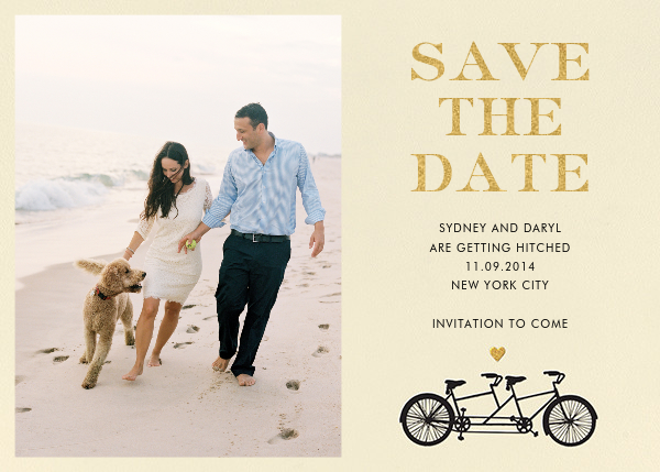 Tandem I (Photo Save the Date) - kate spade new york