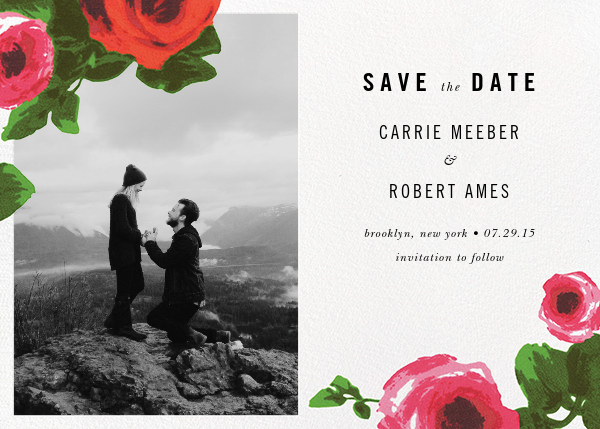 Rose Bed (Photo Save the Date) - kate spade new york - Photo