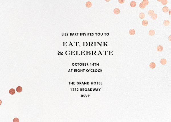 Confetti - White/Rose Gold - kate spade new york - Cocktail party