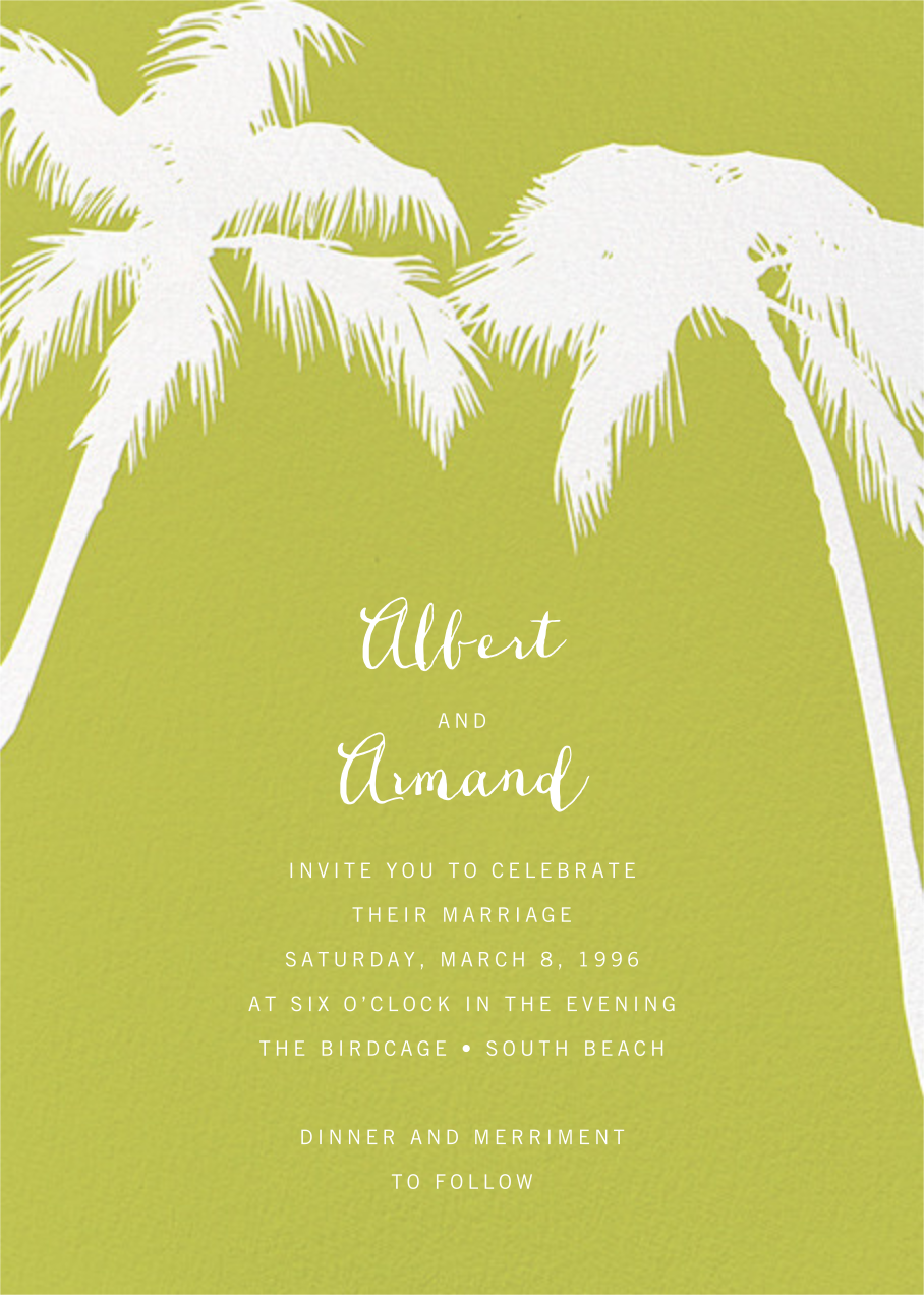Tropical Palm - Chartreuse - Paperless Post - All