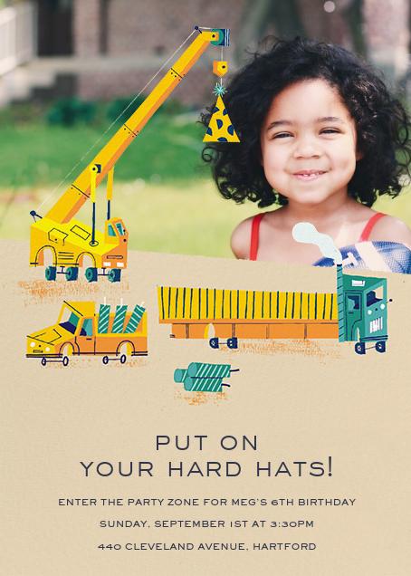 Under Construction (Photo) - Paperless Post - Kids' birthday