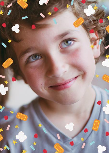 Filmfetti (Photo) - Pink - Paperless Post - Kids' birthday