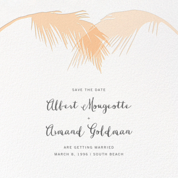 Tropical Palm (Save the Date) - Bellini - Paperless Post - Save the date