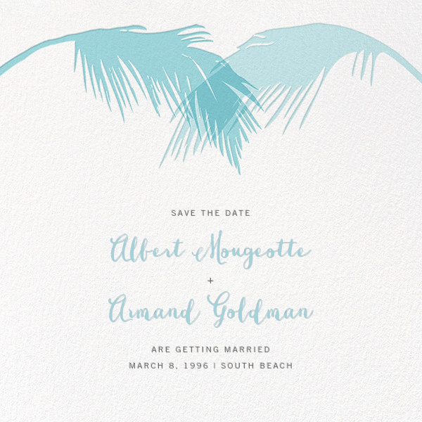 Tropical Palm (Save the Date) - Caribbean - Paperless Post - Save the date