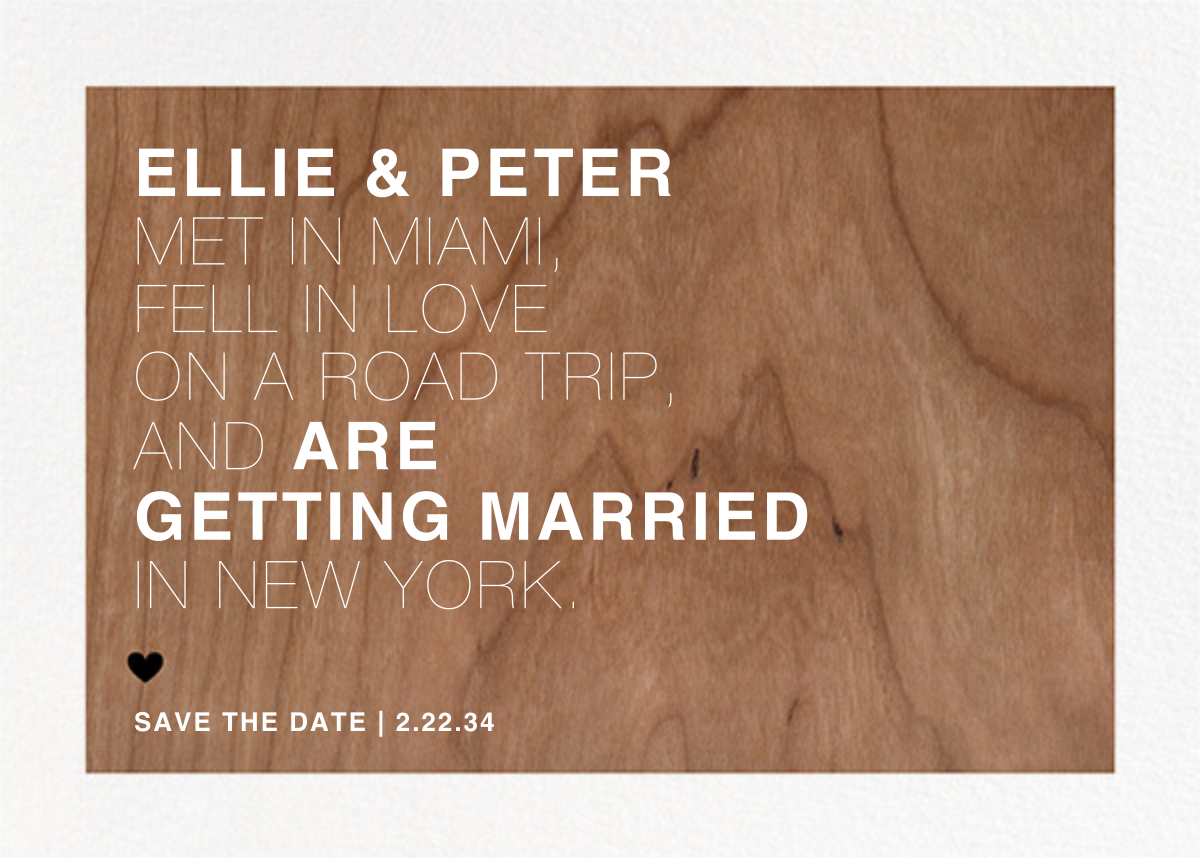 Memoir (Save the Date) - Wood - Paperless Post - Save the date