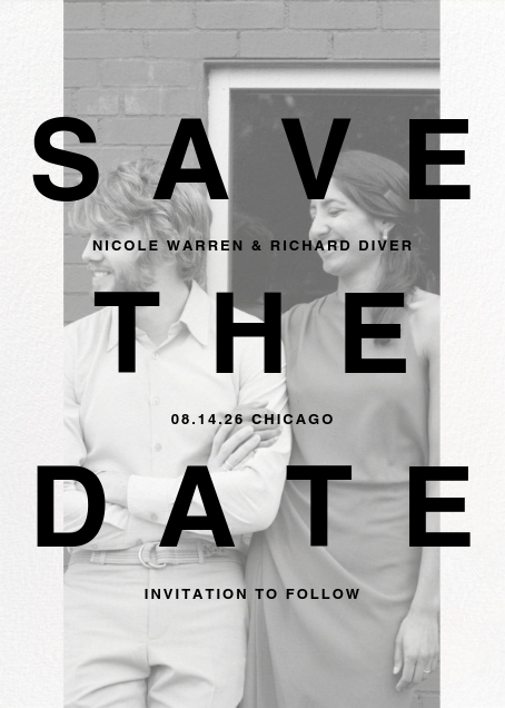 Communiqué (Tall) - Paperless Post - Party save the dates