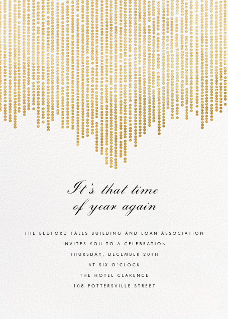 Josephine Baker - White/Gold - Paperless Post - Reception