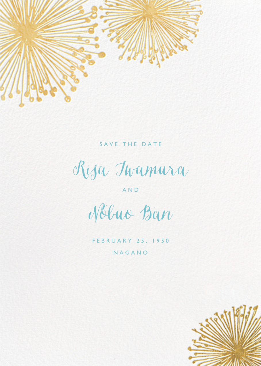Dandelion (Save the Date) - White/Gold - Paperless Post - Save the date