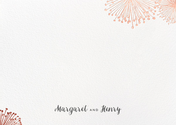 Dandelion (Stationery) - White/Rose Gold - Paperless Post - Personalized stationery