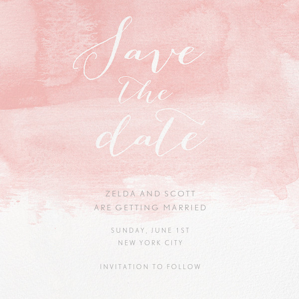 Color Wash (Save the Date) - Pavlova - Paperless Post - Save the date