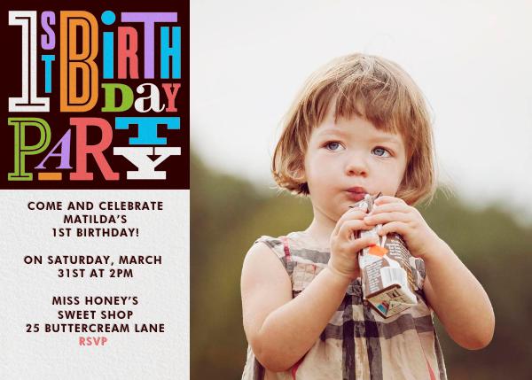 1st Birthday Party - Paperless Post - 1st birthday