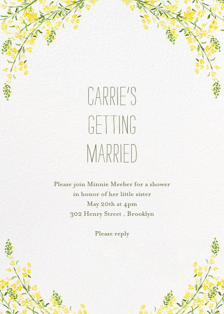 Heathers (Invitation) - Yellow - Paperless Post - Bridal shower