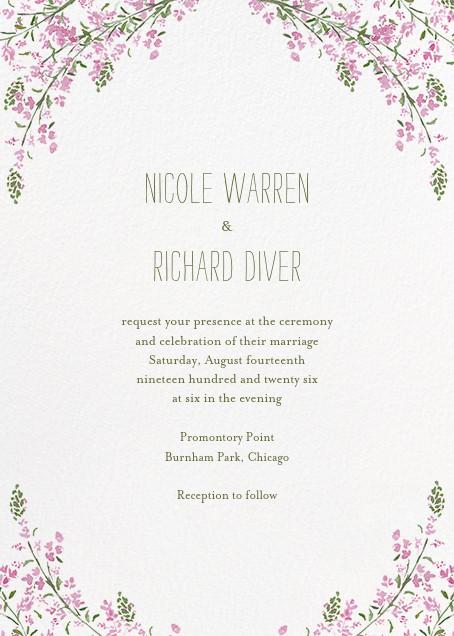 Heathers (Invitation) - Lilac - Paperless Post