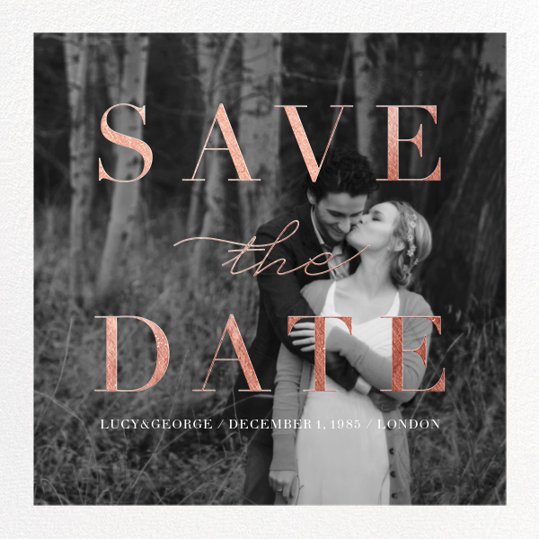 Remnant (Photo) - Rose Gold - Paperless Post - Save the date