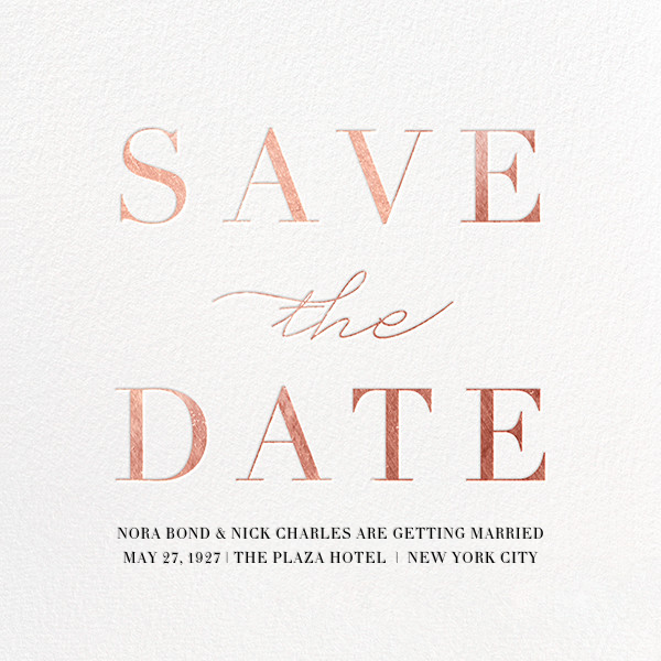 Remnant - Rose Gold - Paperless Post - Save the date