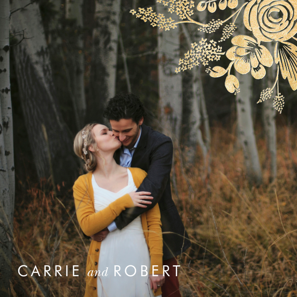 Heather and Lace (Photo Invitation) - Gold - Rifle Paper Co. - All