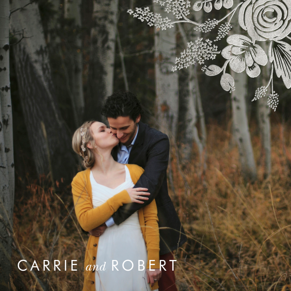 Heather and Lace (Photo Invitation) - Silver - Rifle Paper Co. - All