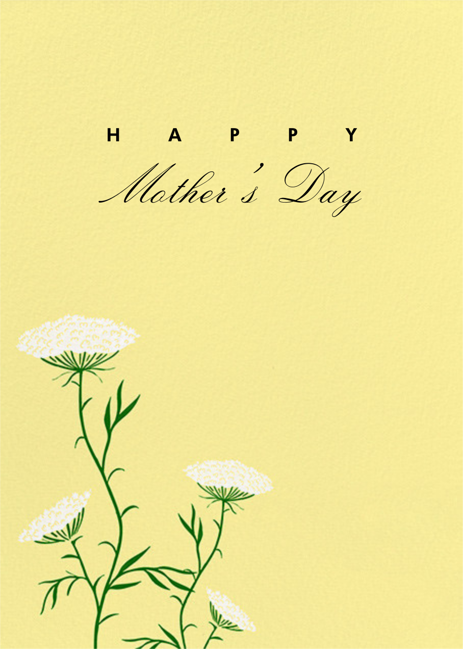 Queen Anne's Lace (Greeting) - Pale Yellow - Paperless Post