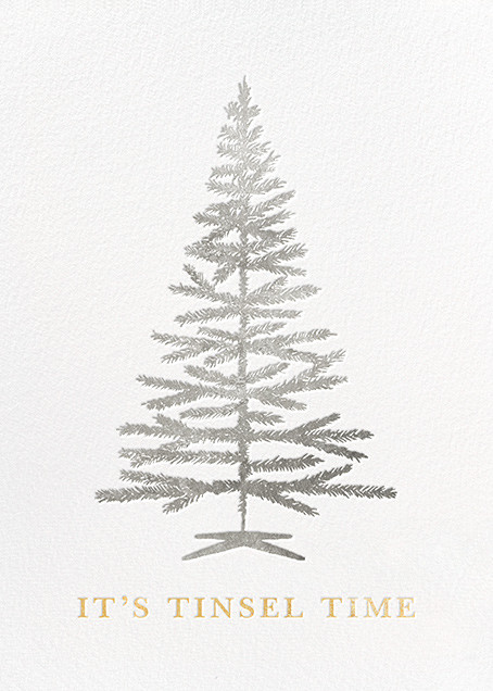 Tinsel Time (Greeting) - Silver - kate spade new york - null