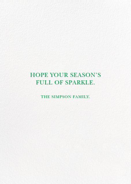 Tinsel Time (Greeting) - Silver - kate spade new york - null - card back