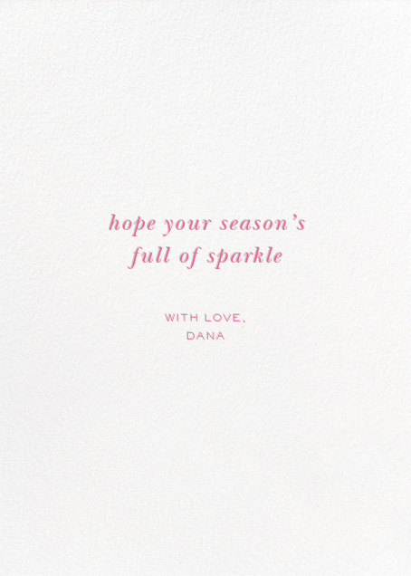 Diamond Tree - Multi - kate spade new york - Holiday cards - card back