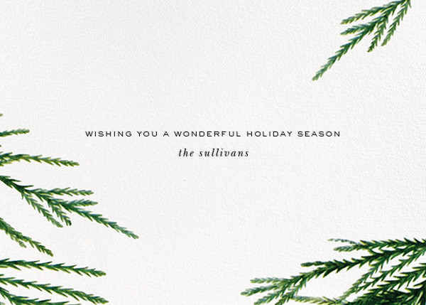 Confetti Branches (Greeting) - Gold - kate spade new york - Christmas - card back