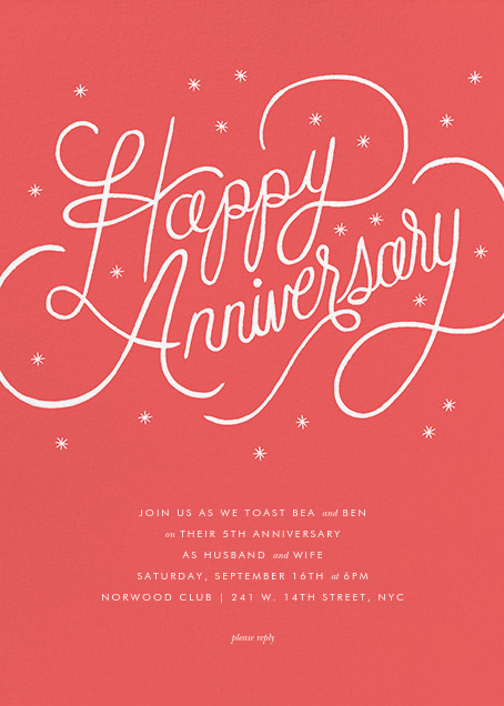 Starlit Anniversary - Coral - Rifle Paper Co. - Anniversary party