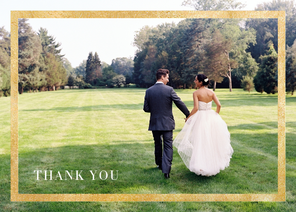 Editorial II (Photo Stationery) - Gold - Paperless Post - Wedding