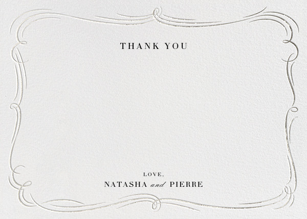 Plume - Ivory/Silver - Paperless Post - Wedding