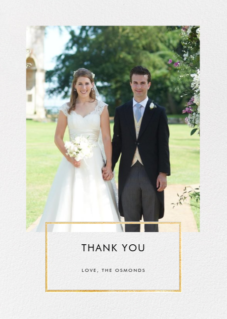 Placard - Gold - Paperless Post - Wedding