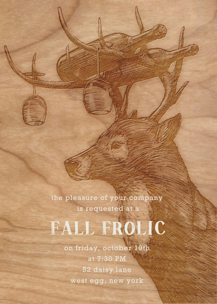 Buck and Wine - Woodgrain - Paperless Post - Autumn entertaining