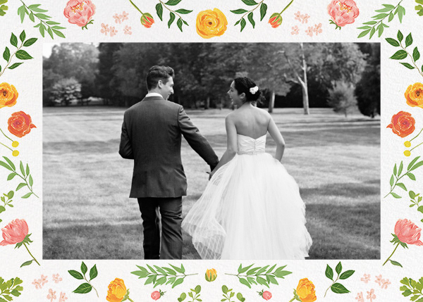 Fleurs d'Été (Photo Stationery) - Citrus - Paperless Post - Wedding