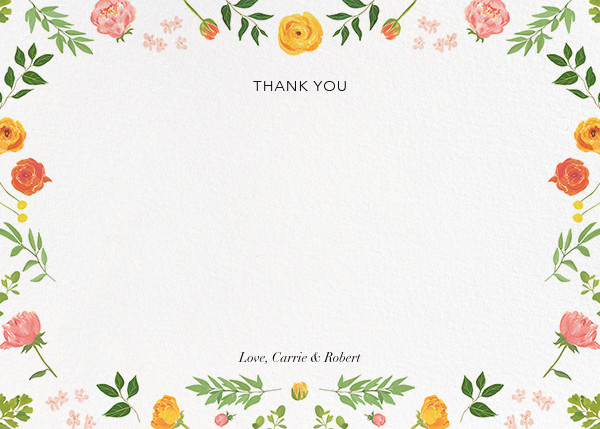 Fleurs d'Été (Photo Stationery) - Citrus - Paperless Post - Wedding - card back