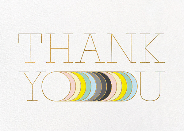 Extended Thanks - Paperless Post - Thank you