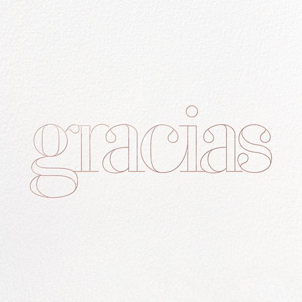 Grace and Gratitude (Gracias) - Rose Gold - Paperless Post