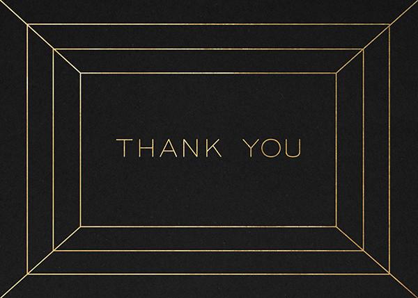 Deco Gratitude - Black/Gold - Paperless Post - Thank you