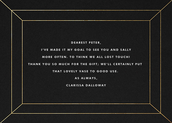 Deco Gratitude - Black/Gold - Paperless Post - Thank you - card back