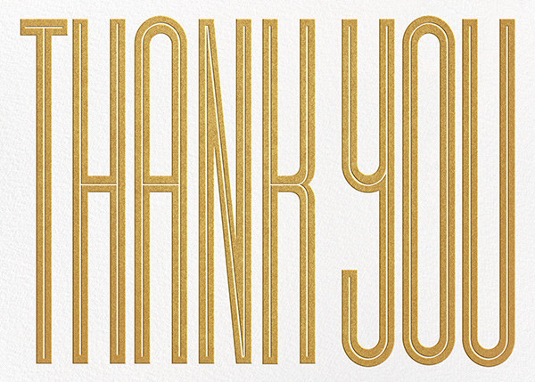 Massive Thanks - Gold - Paperless Post - Graduation thank you cards
