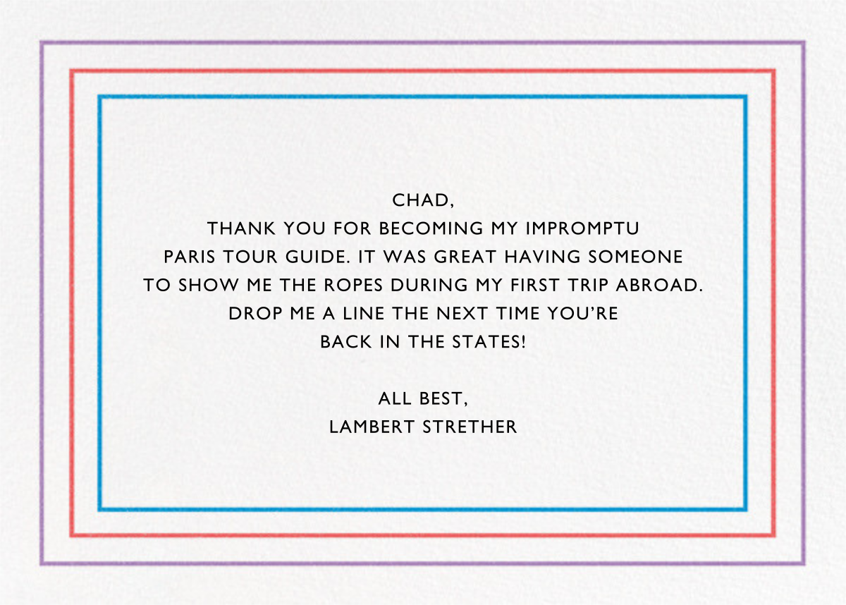 Spectrum of Gratitude - Paperless Post - Graduation thank you cards - card back