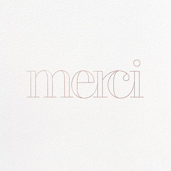 Grace and Gratitude (Merci) - Rose Gold - Paperless Post