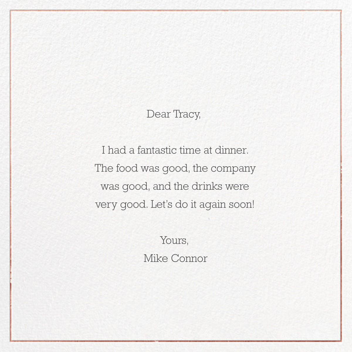 Grace and Gratitude (Merci) - Rose Gold - Paperless Post - Back