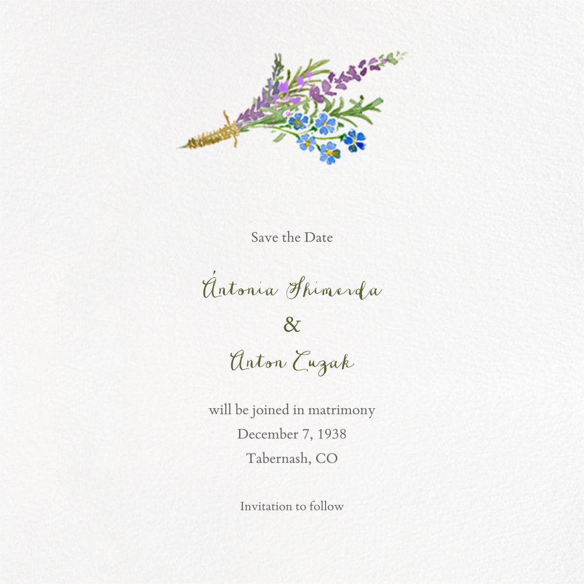 Mountain Flora (Save the Date) - Paperless Post - Destination